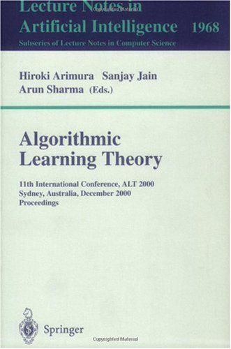 Algorithmic Learning Theory, 11 conf., ALT 2000