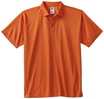 Russell Athletic Big & Tall Men's Dri-Power Solid Polo Shirt, Apricot, XX-Large