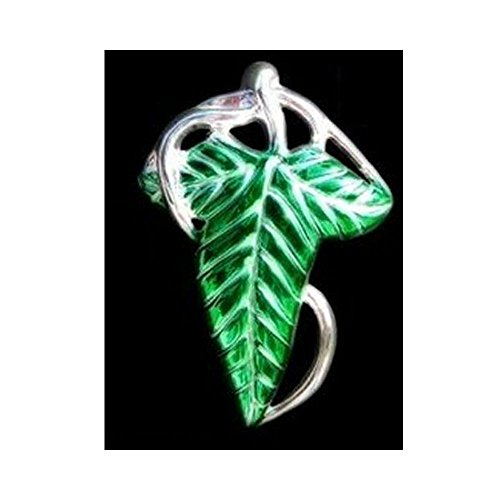 [Lord Of The Rings ELVEN BROOCH LEAF CLASP PIN Green Hot Seller Item] (Gimli Costumes)