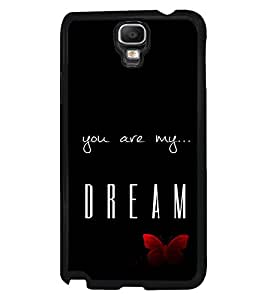 PRINTVISA The Embarasing Girl Premium Metallic Insert Back Case Cover for Samsung Galaxy Note 3 Neo - N7505 - D6077