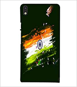 PRINTSWAG INDIAN FLAG Designer Back Cover Case for HUAWEI P6