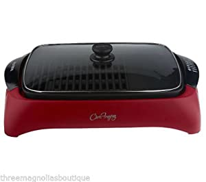"""Chris Freytag 15"""" x 11"""" Non-Stick Red Health Grill"""