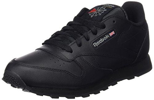 Reebok Classic Leather, Scarpe da Calcio Allenamento Unisex Bambini, Nero (Black 001Black 001), 38.5