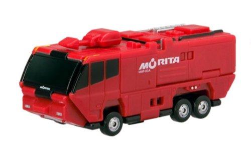 Bandai VooV VM04 Transforming Toy Car [Morita Airport Chemical Fire Engine (MAF-60A) ~ Ladder Truck Super Gyro Ladder (MLJSH5-30W)] - 1