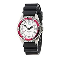 New St. Moritz Momentum M1 Twist Women's Dive Watch & Underwater Timer for Scuba Divers with Fuschia Bezel, Black Hyper Rubber Band & FREE Watch Protector (Valued at $12.95) for Added Protection to the Glass Face of Your Dive Watch