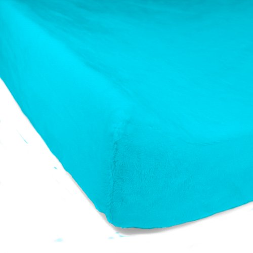 "Luxe Basics Cover Comfy Contoured Changing Pad Cover, Turquoise, 34"" X 17"""