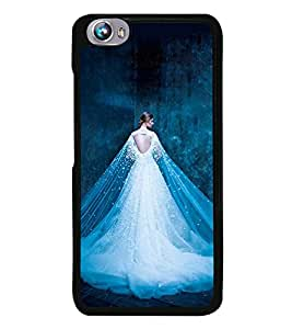 Girl with Shining white Dress 2D Hard Polycarbonate Designer Back Case Cover for Micromax Canvas Fire 4 A107
