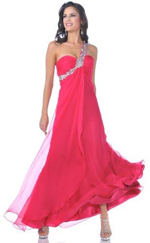 Meier Women's One Shoulder Chiffon Gown 7539