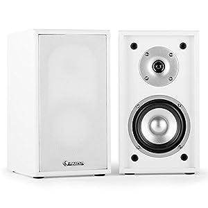 Auna Linie-300-SF-WH - loudspeakers (White, Tabletop/bookshelf, Speaker set unit, Wired, Wood, 2-way)