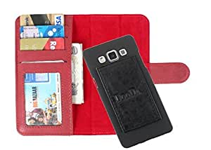 DooDa PU Leather Wallet Flip Case Cover With Card & ID Slots For Karbonn A80 - Back Cover Not Included Peel And Paste