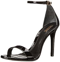 Schutz Women\'s Cadey Lee High Heel Dress Sandal,Black/Black Patent,7.5 M US