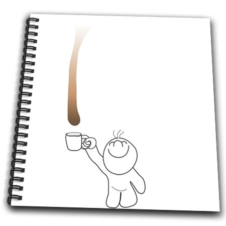 Db_58302_1 Inspirationzstore Drip Guy - Cute Drip Guy Catching Chocolate Or Coffee Drop With Mug - Fun Funny Humor Fake Stain Unique - Drawing Book - Drawing Book 8 X 8 Inch