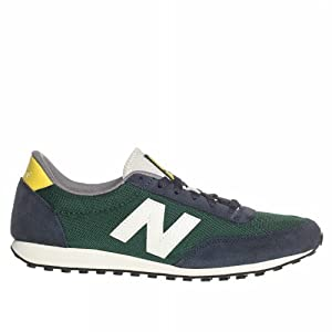 Zapatillas New Balance - Classics Traditionnels, color gris/verde, talla 42.5