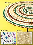 Deluxe Fitted Tablecloths - Round Tablecloth (Fits tables up to 48