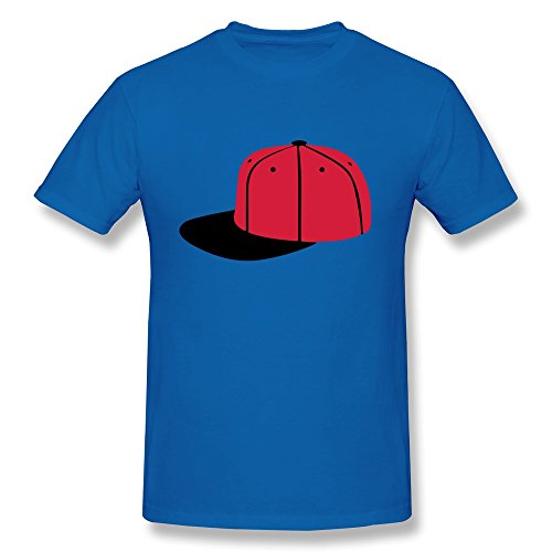 Guy T Shirt Geek Basecap Royalblue Preshrunk front-555098