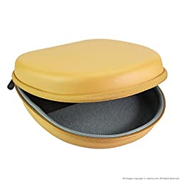 Geekria® UltraShell Headphones Case for Parrot Zik, Bose QuietComfort QC3, QC25, QC2, QC15, Around-Ear AE2w, AE2i, AE2, TP-1, SoundLink On-Ear, OE, OE2, OE2i, Grado, ATH, AKG, JBL, SONY MDR, Foldable Headphones / Headphone Full Size Hard Carrying Case /