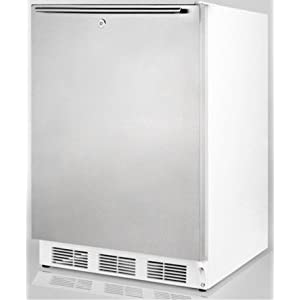 5 5 Cu Ft Freestanding Compact All Refrigerator With Interior Light Door Shelves And Fits Under Ada Counters In White With