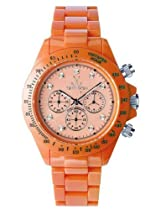 ToyWatch Fluo Chronograph Watch FL12OR All Orange Unisex Plasteramic Plastic Ceramic Diamante Crystals