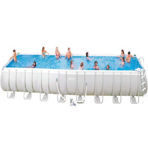 Sure Buy 12 Ft X 24 Ft Rectangle Intex Ultra Frame Swimming Pool Set Intex Pool