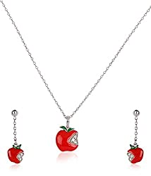 Disney Silver Plated Jewellery-Set for Kids (Multi-Color) (SB110252N+E/1)