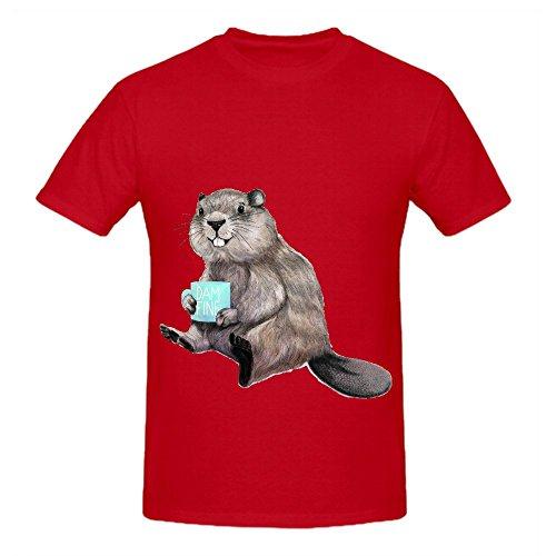 dam-fine-coffee-mens-crew-neck-cotton-tee-shirts-red