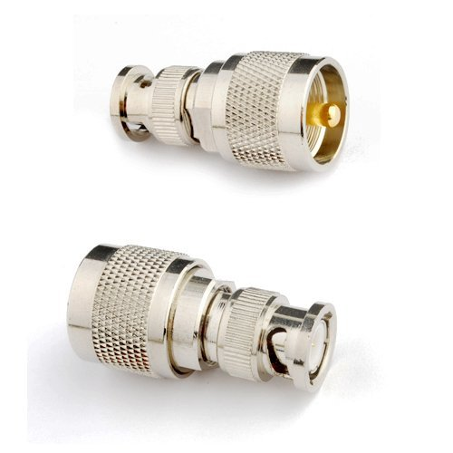RF coaxial coax adapter BNC male to UHF male PL-259 connector