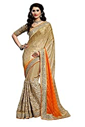 coolwomen women's silk embroidered free size fancy saree-cw_NMD2A205_orange_free size