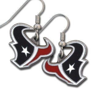 Houston Texans Dangle Earrings  - NFL Football Fan Shop Sports Team Merchandise