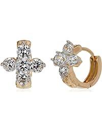 SIA Art Jewellery Clip-On Earrings For Women (Gold) (AZ3263)