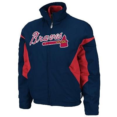 MLB Atlanta Braves Triple Peak Women's Jacket, Navy/Red