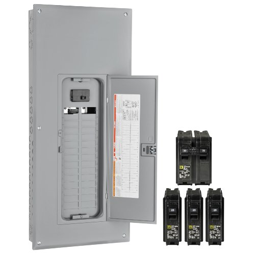 Square D By Schneider Electric Hom3040M150Vp Homeline 150-Amp 30-Space 40-Circuit Indoor Main Breaker Load Center With Cover Value Pack