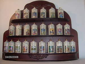 Walt Disney Spice Jar Collection Fine Porcelain 24 Piece With Rack Handcrafted From Lenox 1995