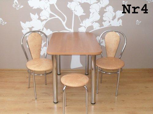 Stuhl-Kchenstuhl-Bistrostuhl-mit-Chromfu-ohne-Tisch-Farbenauswahl-Erle