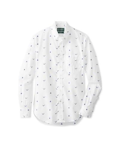 Gitman Vintage Men's Nautical Pattern Button Down Shirt