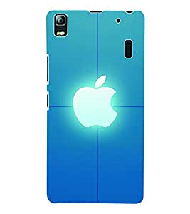 Fuson 3D Printed Apple Designer Back Case Cover for Lenovo A7000 - D1070
