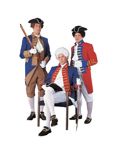 Patriotic Regency Collection Red, White, and Blue Soldier Costume for Men
