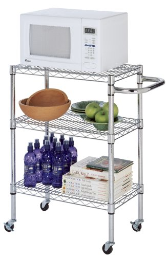 18 Deep X 24 Wide X 36 High Chrome Kitchen Cart Soletoma