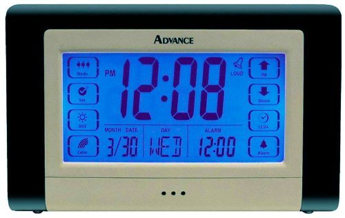 Advance Time 6225AT Touch Screen Color Changing Alarm Clock