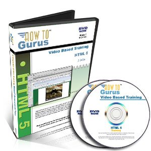HTML 5 Web Design Software Training on 2 DVDs, 12 Hours in 129 Computer Video Lessons