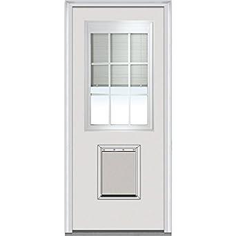 National Door Company Ebcf681blpr30lh Inswing Entry Door Rehung Left Hand Internal Mini Blinds