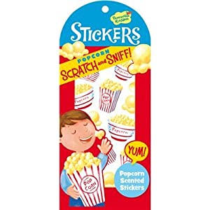 Peaceable Kingdom / Scratch & Sniff Popcorn Scented Sticker Pack