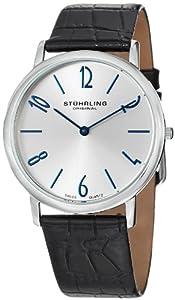 Stuhrling Original Men's 140.33152 Classic Ascot II Swiss Quartz Slim Silver Dial Watch