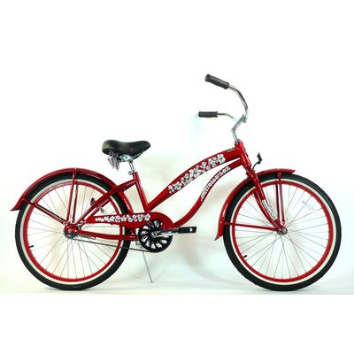 Women's Single Speed Beach Cruiser Frame Color: Red