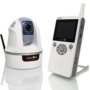 secuOn(セキュオン) 可動式デジタルベビーモニター ホワイト