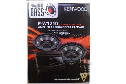 Kenwood P-W1210 Kac-1502S 2 Channel Amplifier + Two Kfcw112S 12-Inch Subwoofers Combination Pack