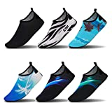 Vaincre Womens and Mens Girls Boys Water Shoes Barefoot Quick-Dry Aqua Socks for Beach Swim Surf Yoga Exercise