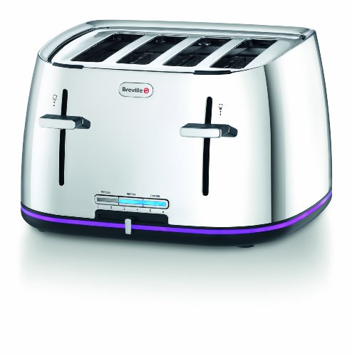 Breville VTT240 Stainless Steel 4-Slice Toaster with Countdown Illumination from Breville