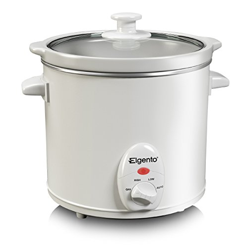 Elgento E16002 Slow Cooker, 3 Litre, White