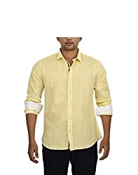Hackensack Men's Casual Shirt (HNK_31_S_Yellow_Small)
