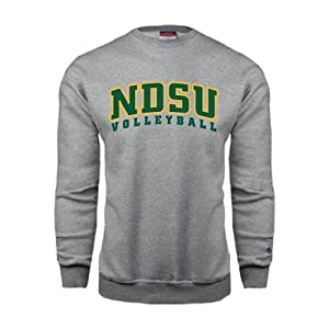 North Dakota State Champion Grey Fleece Crew, X-Large, NDSU Volleyball